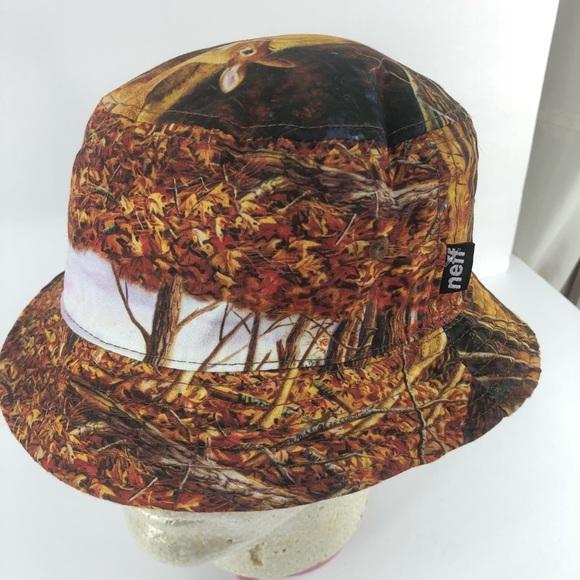 Neff bucket hat deer in forest. New bd002da1756